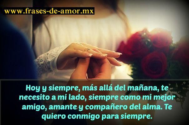 Imagenes Con Frases De Amor Para Facebook: Te Quiero A Mi Lado Para Siempre- Casamiento