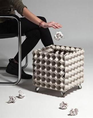 ¿Quieres ser creativa? Papelera súper ecológica para la oficina - Want to be creative? Trash super eco for office.