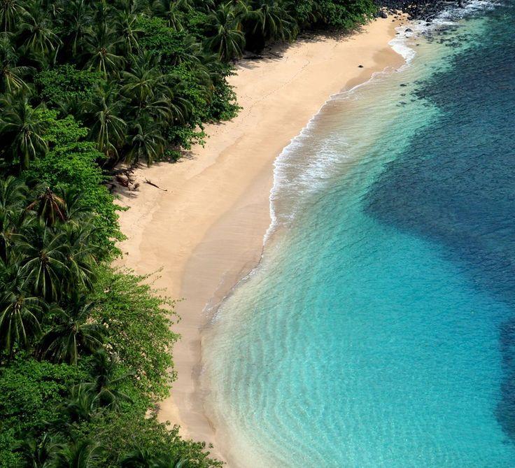 Sao Tome and Principe, Principe island, Banana beach, clear water