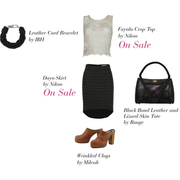 Fayola Crop Top & Dayo Skirt - LAAVAA, created by laavaa on Polyvore - Get 20% off only on LAAVAA.com until Sunday May 20!