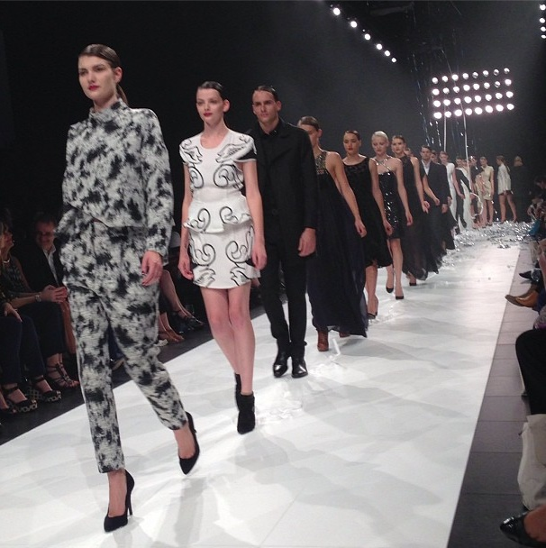 Day Two: Finale walk for Opening Event presented by @David Jones Store and @Vogue Australia  #lmffnow