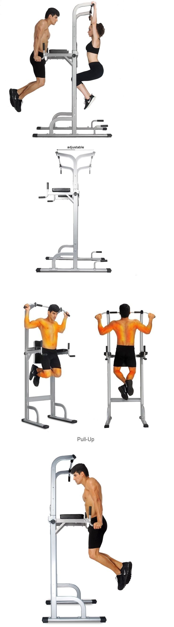 Pull Up Bars 179816: Power Tower Strength Training Fitness Equipment Pull Up Bar Standing Tower Gym -> BUY IT NOW ONLY: $109.8 on eBay!