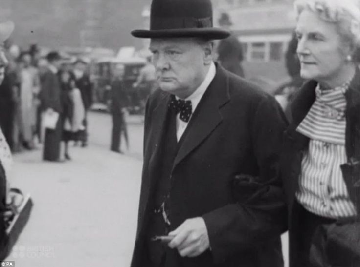 Preparing for war: The scenes are among many portrayed in a newly-released film archive which reveals what life was like during 1930s and 40s Britain. Above, then-Prime Minister Winston Churchill is portrayed in the 1940 film War Comes to London, which follows the capital's preparations in the lead up to World War Two