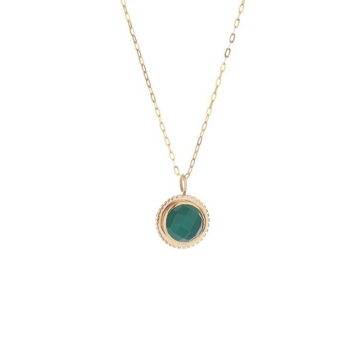 Dear Rae // Green Agate Pendant