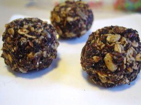 Trufas de algarroba y otras recetas a base de harina de algarroba.