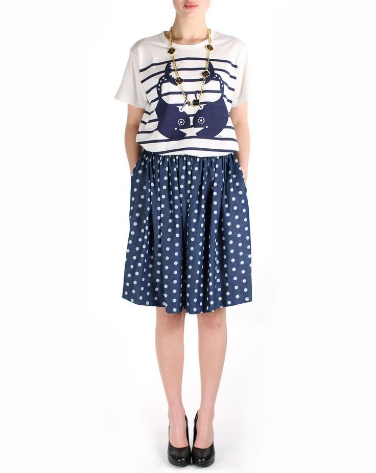 Sail Skirt (Polka Dot) by Karen Walker