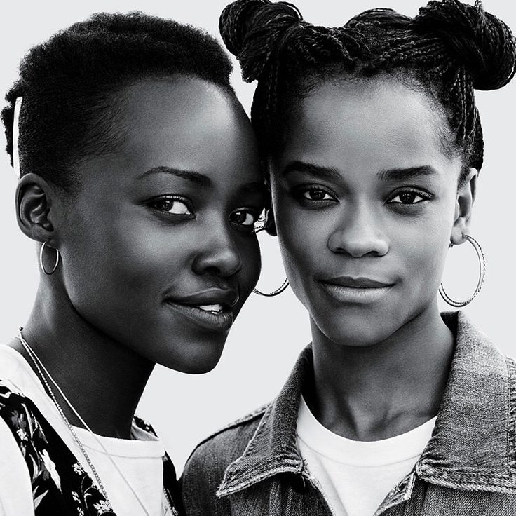 "Black Women on Instagram: ""Letitia Wright and Lupita Nyong'o photographed by Amy Troost for Teen Vogue #letitiawright #lupitanyongo #teenvogue"""