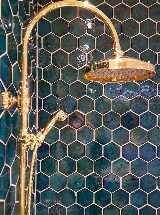 tegel zeshoek badkamer – #badkamer #salledebain #t…