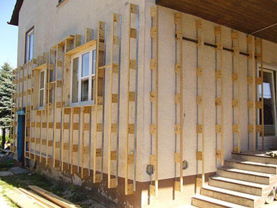 Außendämmung einer Fassade