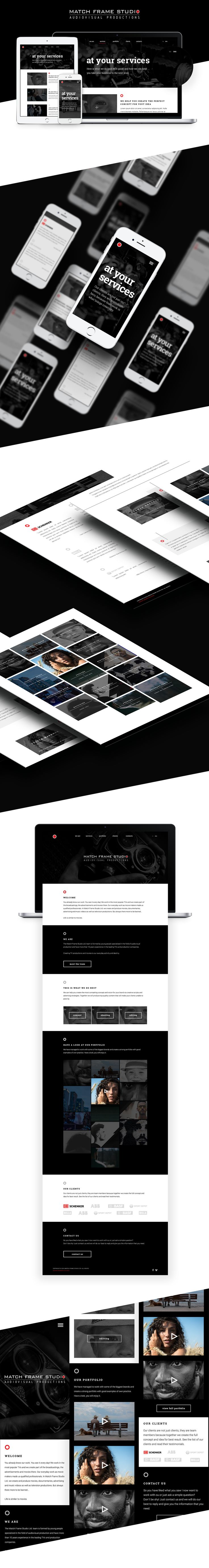 Match Frame Studio website and mobile redesign on Behance
