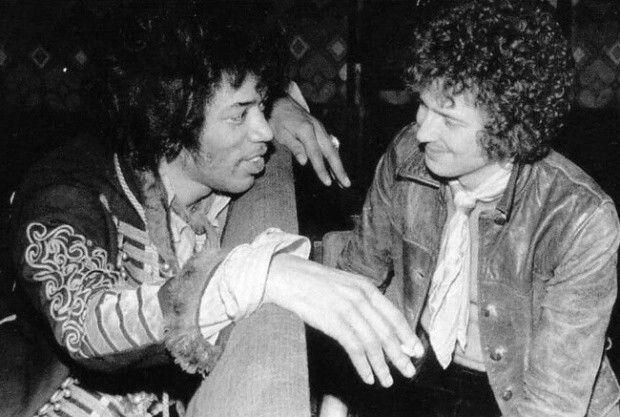 Jimi Hendrix e Eric Clapton, 1967