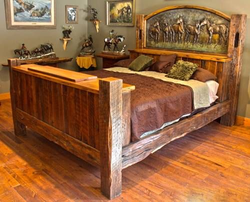 Rustic Bed Log Cabin Bedding Furniture Bedroom Designs