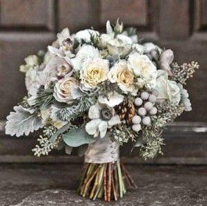 Цинерария в свадебном букете