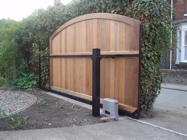 Love this gate!!!  Our Automated gates can be provided as single or a double swing, requiring either one or two electric ram openers.