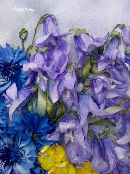 Gallery.ru / Фото #145 - Картины вышитые лентами с чистого листа: натюрморты, цветы - irina-zubkova
