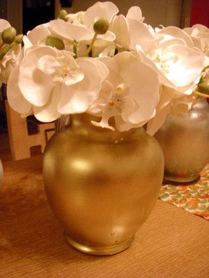 gold spray paint for glass - Google Search