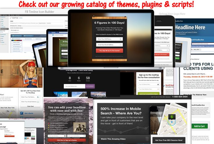 Within the members area choose from many available themes, plugins and scripts which can be used as many times as you like. You'll find some awesome capabilities which will take your websites and landing offers to the next level!