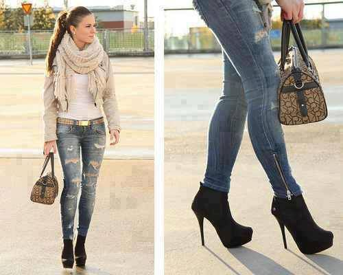Jeans and botties