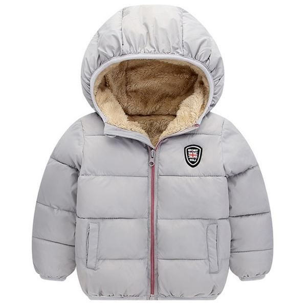 Jacket Winter Coat For Kids Cotton Hooded Outerwear Boys And Girls Clothes Wears