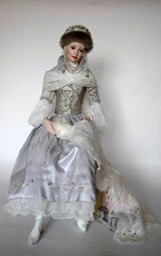 Doll in Russian costume.