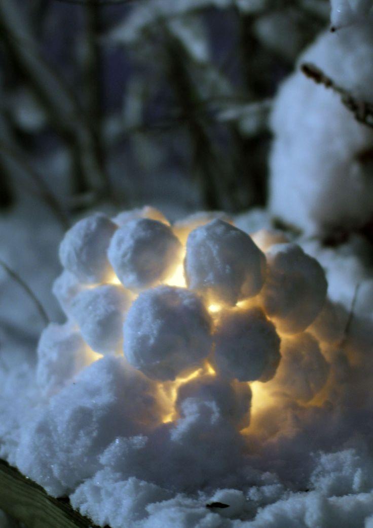 Lumilyhty / snow lantern