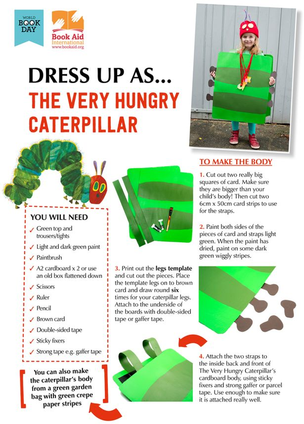 World Book Day: Perhaps one of the more adventurous costumes - The Very Hungry Caterpillar and 9 other costume ideas http://www.mirror.co.uk/lifestyle/family/world-book-day-10-diy-5241830