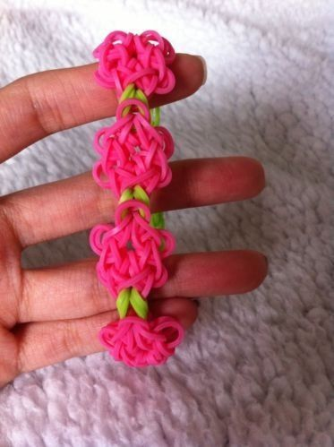 Flower Rainbow Loom Bracelet