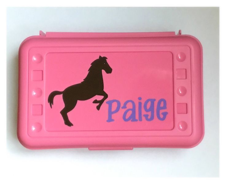 Personalized Pencil Boxes - Horse - Back to School, School Supplies, Pencil Case, Pencil Box by MamaBforMe on Etsy https://www.etsy.com/listing/526727084/personalized-pencil-boxes-horse-back-to