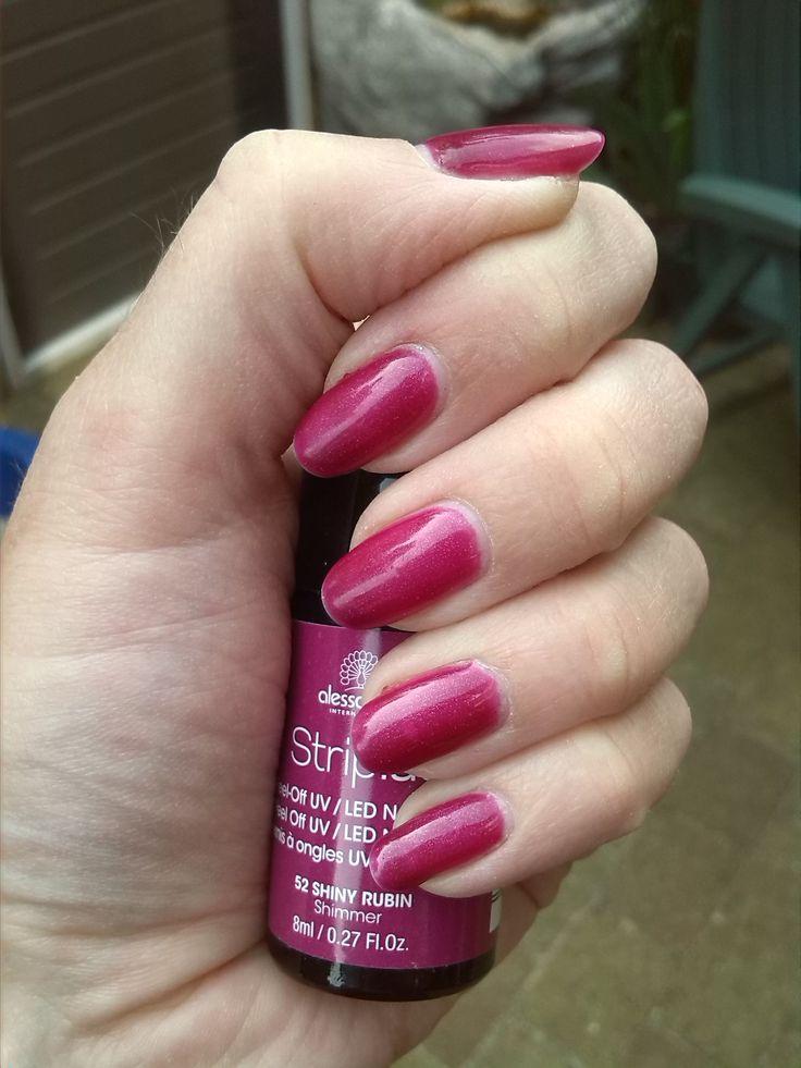 Alessandro Striplac Shiny Rubin Nail Polish Beauty Nails