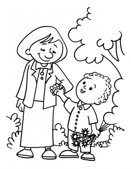 mothers coloring page for kids