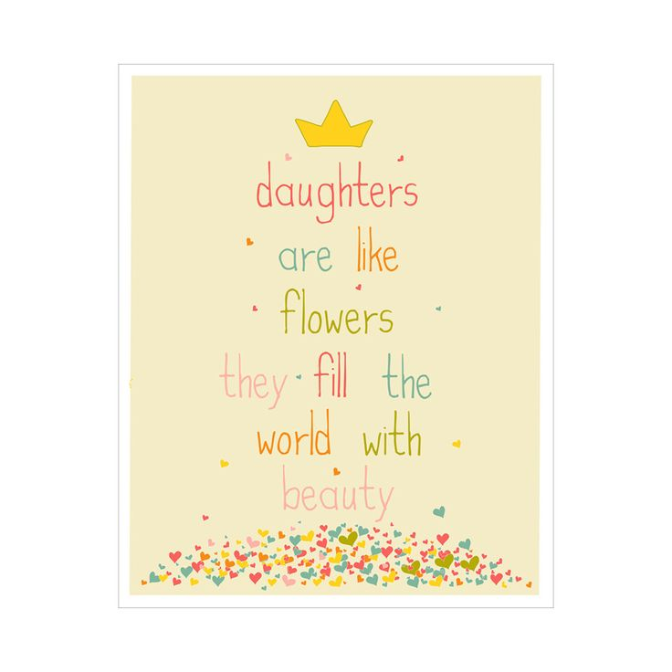 Children 39 s wall art nursery decor daughters are like for Art sites like etsy