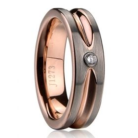Copy of tungsten carbide jewelry rings rose gold plating Polished shiny