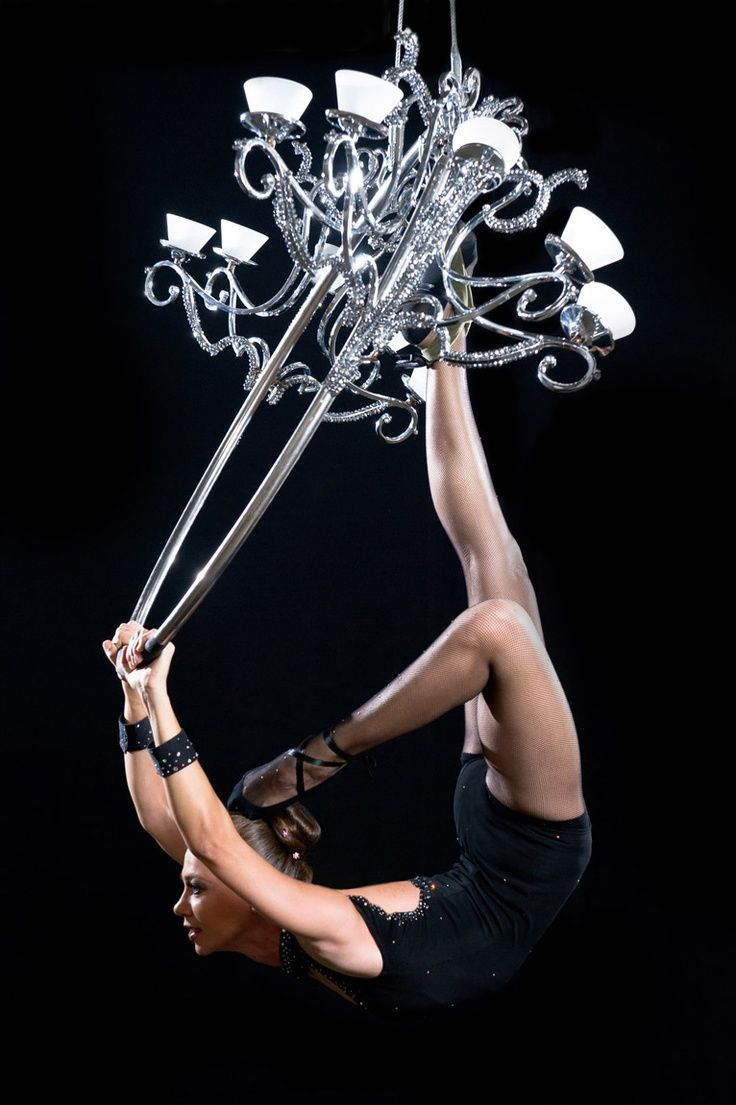Gives The Term Swinging From Chandelier A Whole New Meaning Aerial Pinterest Chandeliers Silks And Yoga Fitness