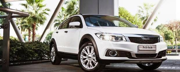 Den nye Qoros 3 er på størrelse med Nissan Qashqai, som formentlig også er en konkurrent. Foto: Newspress #biler #cars