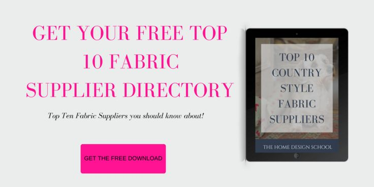 Get the free download for my top 10 country fabric suppliers here: http://www.thehomedesignschool.com/top-10-fabrics  And why not also click on the image to read the blog post all about Emily Bond fabrics.  Also, feel free to come and sign up for our free resource library, or take our free e-course, to learn all about how to design and decorate your own home? http://www.TheHomeDesignSchool.com/signup