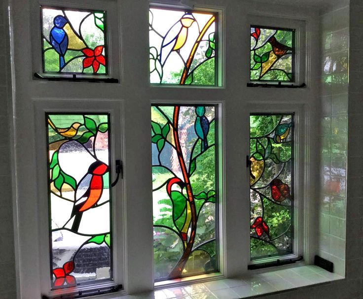 Bird stained glass window best glass 2017 for Best glass for windows