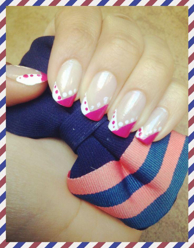 Pink- white
