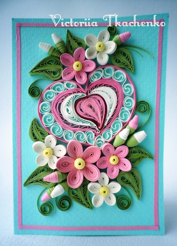 Valentine Quilling Card Valentines Day Quilling Card