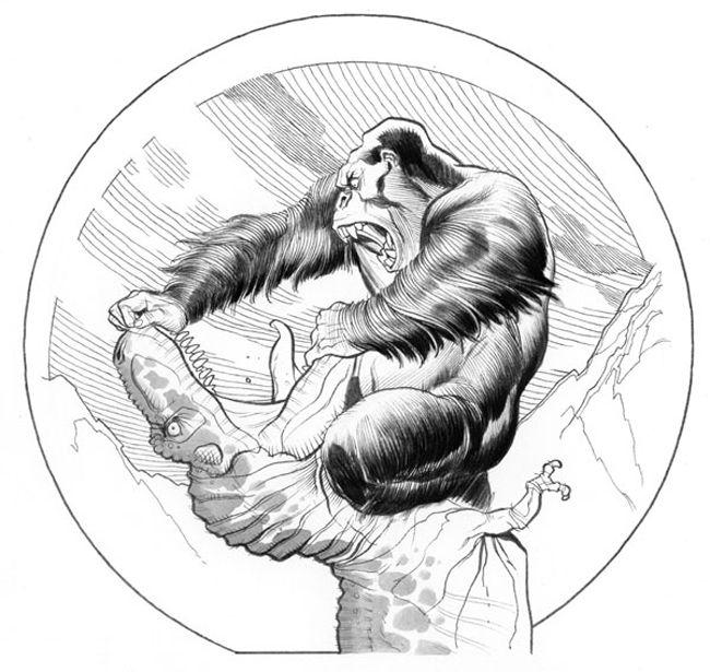 King Kong vs. T-Rex - Frank Cho