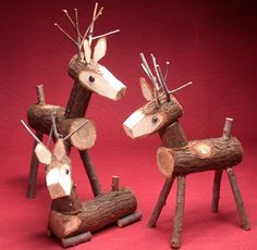 Image detail for -... wooden reindeer have been a holiday favorite at craft company for