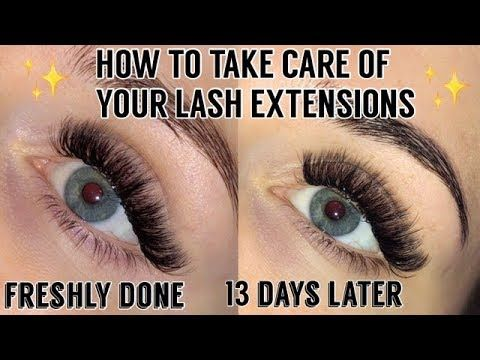 How To Take Care Of Your Lash Extension How I Clean My Lashes Taylor Bairstow Youtube How To Clean Lashes Lash Extensions Care Lashes