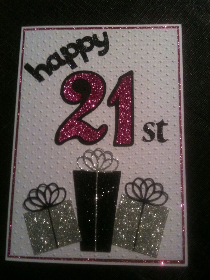 21st female birthday card