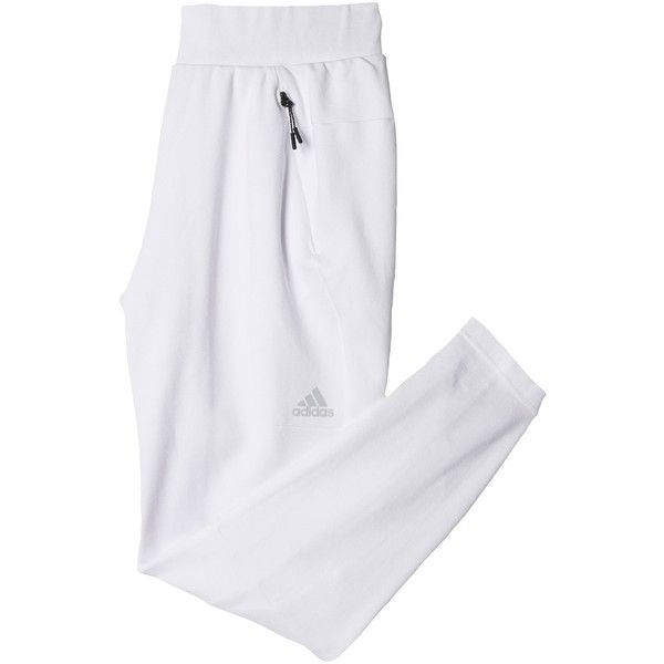 Adidas Z.N.E. Women's Bottoms, White ($63) ❤ liked on Polyvore featuring activewear, activewear pants, athletic sportswear, adidas, adidas activewear and adidas sportswear