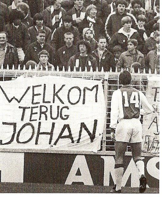 Cruijff terug bij Ajax (06-12-1981)