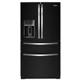 Grâce à ce réfrigérateur à portes françaises et tiroir réfrigéré Whirlpool® de 28 pi, vous trouverez toujours l'endroit parfait pour ranger vos achats d'aliments en gros, les petites collations, les fruits et légumes et tout autre produits que vous ramènerez de l'épicerie. Le tiroir réfrigéré FreshStor™, le système de bac à légumes triple EasyView™, le système de congélation triple et le balconnet EasySlide exclusif dans l'industrie, procurent le rangement le plus flexible qui soit. Il y a…