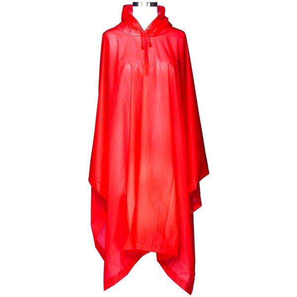 ShedRain Hooded Rain Ponchos - Red : Target ($8.99) ❤ liked on Polyvore featuring outerwear, hooded ponchos, style poncho, shedrain and red poncho