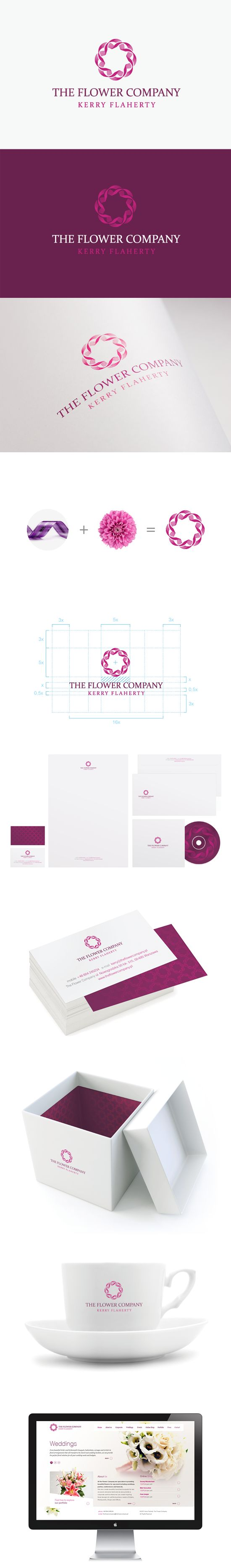 The Flower Company | Branding / logo / identity / design / concepts / sketches / pink and purple / stationery