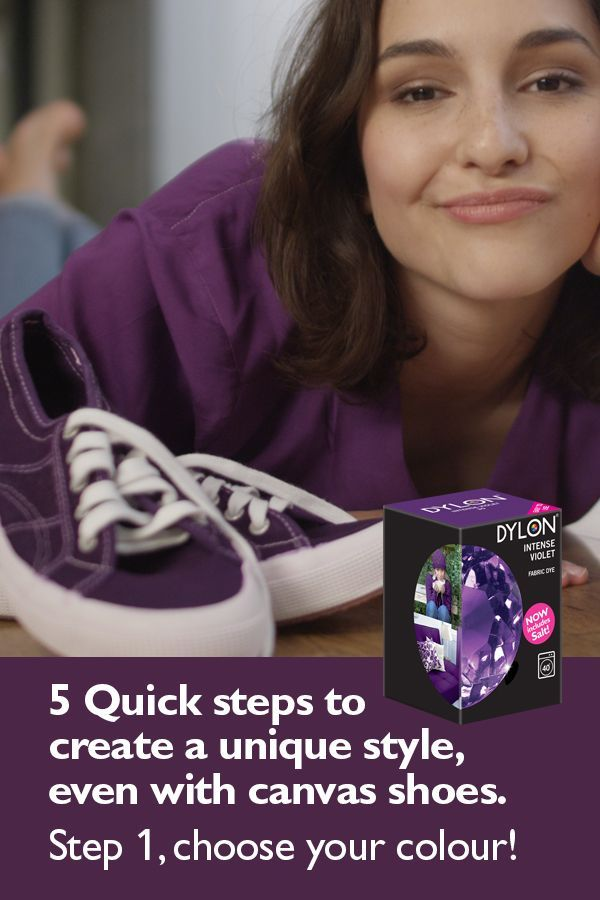 Use DYLON Fabric Dyes to create your own unique style. Dyes are so versatile, they can even dye canvas shoes. Just pick your favourite colour to create a look that's totally you.