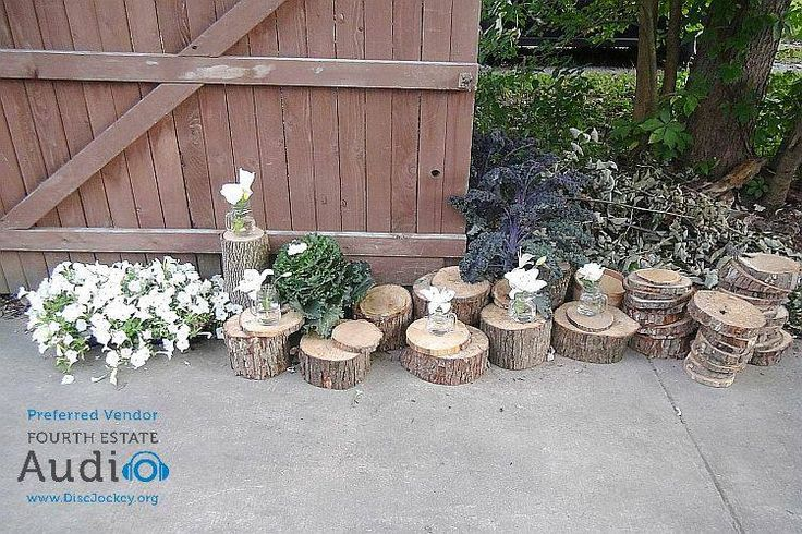 Just some of the lovely rustic yard decor. http://www.discjockey.org/real-chicago-wedding-sept-26-2015