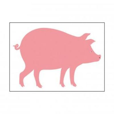 KITCHEN / Pink Pig print from LUKE Furniture for something a little fun!